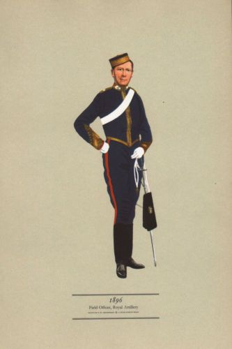 vintage military british uniform print