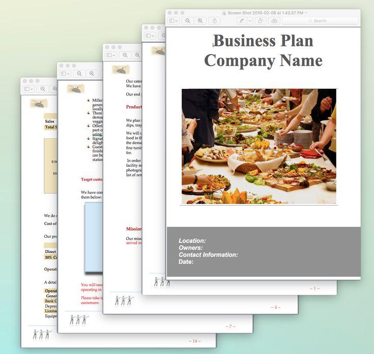 Plus de 25 idées uniques dans la catégorie Échantillon de plan d - catering business plan template