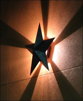 Texas star wall sconce light...love this!