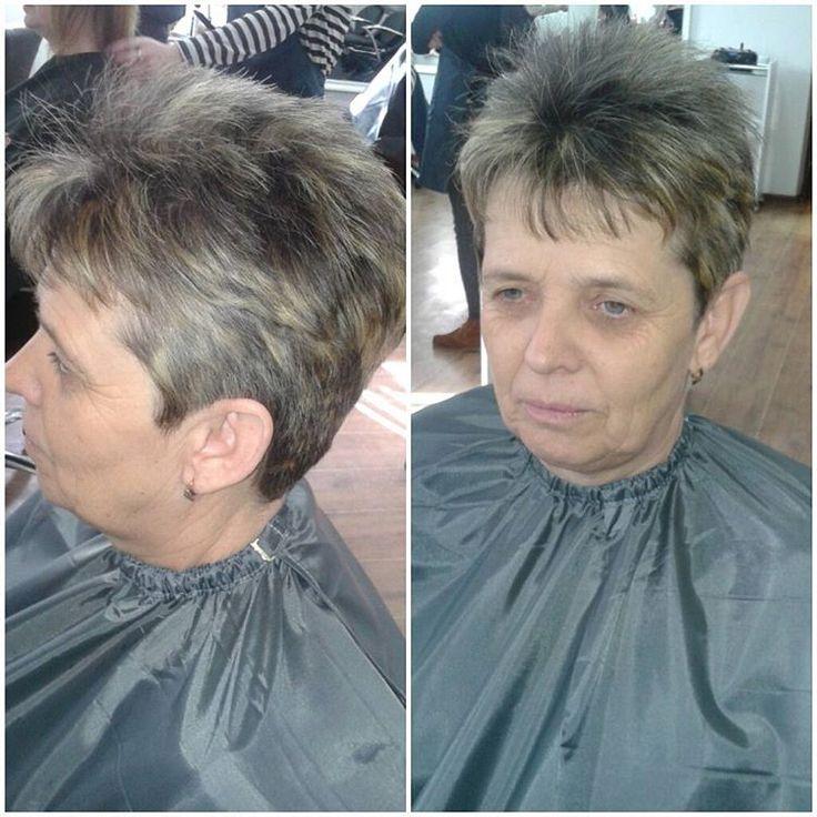 «Моя первая стрижка на курсах) Вот что получилось♥ #стрижка #парикмахер»