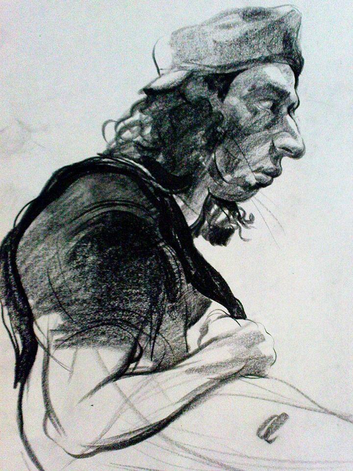 Nasrin CHARKHAT - graphite on paper - 35 * 50 cm - 2011