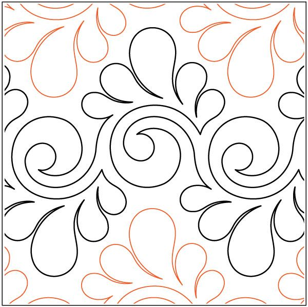 Fresco Feathers Quilting Pantograph Pattern By Lorien