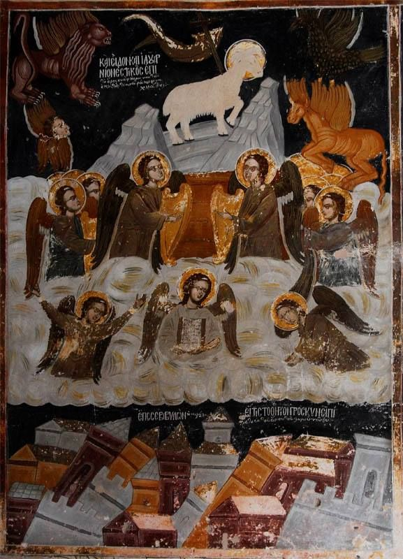 Τοιχογραφία στον εξωτερικό τοίχο του παλαιού καθολικού (Ιερά Μονή Ξενοφώντος) - A fresco on the external wall of the old katholikon (Holy Monastery of Xenophontos)
