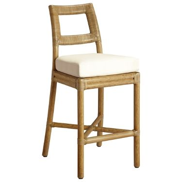 McGuire Furniture: Thomas Pheasant Laced Back Counter Stool: O-411g