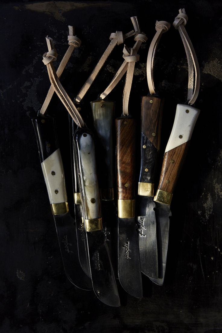 Rugged handsome knives by Poglia&Co