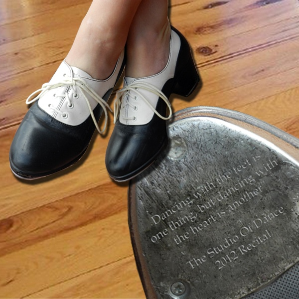 """""""Dancing with the feet is one thing, but dancing with the heart is another.""""  Bring in a tap from your dancer's tap shoes and have the tap engraved at your local Things Remembered!"""