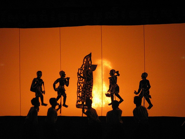 Dream: to watch Cambodian shadow puppets.