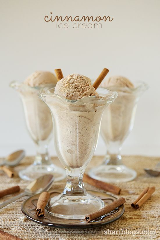Cinnamon Ice Cream | www.shariblogs.com | #cuisinart #icecream  #cinnamon