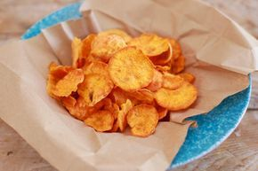 Microwave Sweet Potato Chips? seriously? they are AMAZING! and just take 3 minutes.