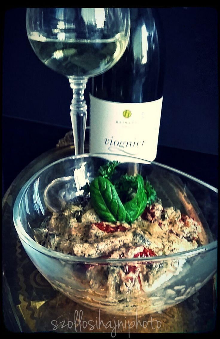 Hajni's Kitchen /  Sometimes I do .. I love it..  with some hungarian wine, Heimann Cellar from Szekszárd wineregion, Viognier / Hungary