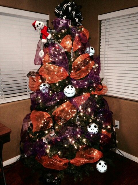 nightmare before christmas tree halloween treeshalloween ornamentshalloween - Halloween Christmas Decorations