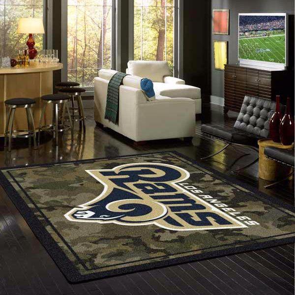 Los Angeles Rams Rug NFL Team Camo