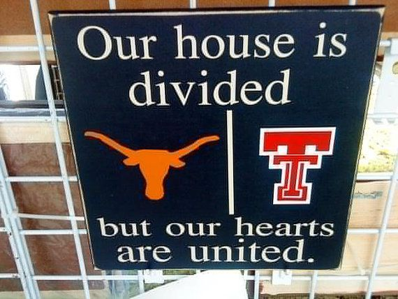 Personalized College Sign Divided House Texas by vinylupyourspace, $30.00
