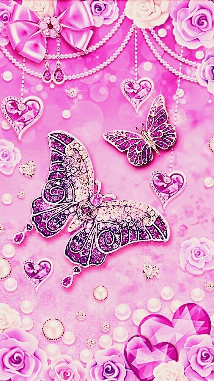 Pin By Raisa Luz Reategui Rios On Glitter Backgrounds Bling Wallpaper Butterfly Wallpaper Butterfly Art Cute glitter pink butterfly wallpaper