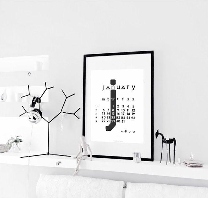 FREE printable 2014 January Calendar / Only Deco Love