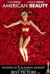 """American Beauty"" (1999). Lester Burnham, a depressed suburban father in a mid-life crisis, decides to turn his hectic life around after developing an infatuation for his daughter's attractive friend.  This movie is much darker than I remembered.  However, it's also very good.  Kevin Spacey and Annette Bening head up the cast."