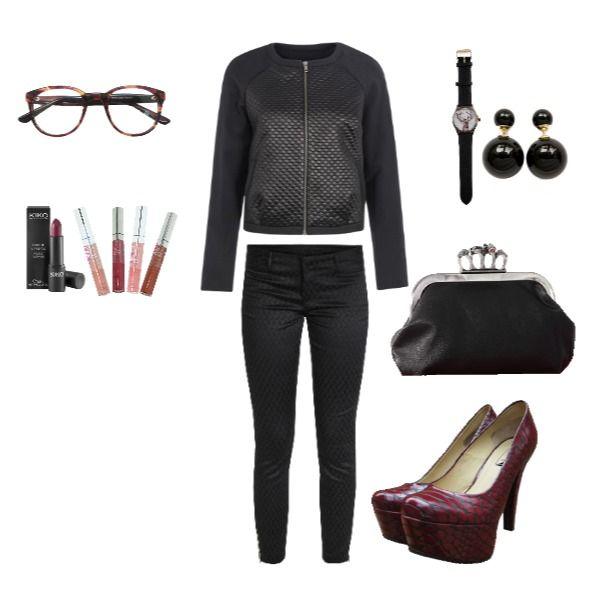 Outfit Black Velvet heelsup, redsnake, backtublack, juernes, afterwork en Colombia