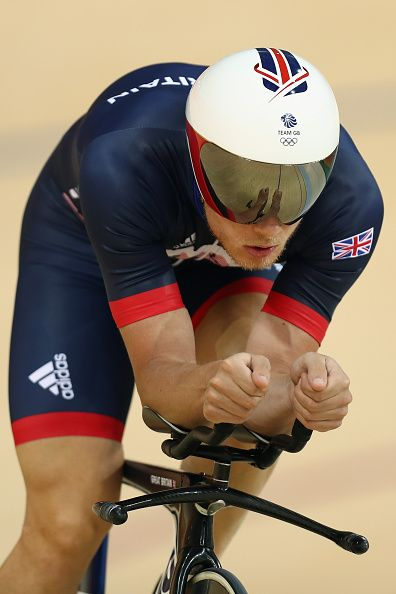 #RIO2016 Steven Burke of Great Britain and Team GB in action during training at the Rio Olympic Velodrome on August 4 2016 in Rio de Janeiro Brazil