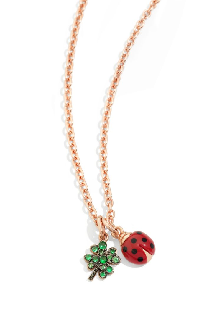 While looking for a Dodo four-leaf clover in tsavorites you may find yourself falling for the cute ladybug charm!