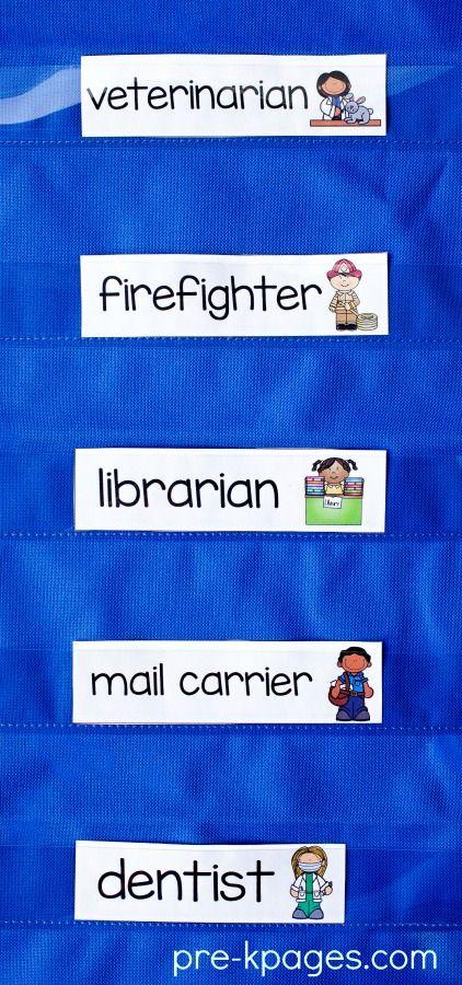 Printable Community Helper Word Cards
