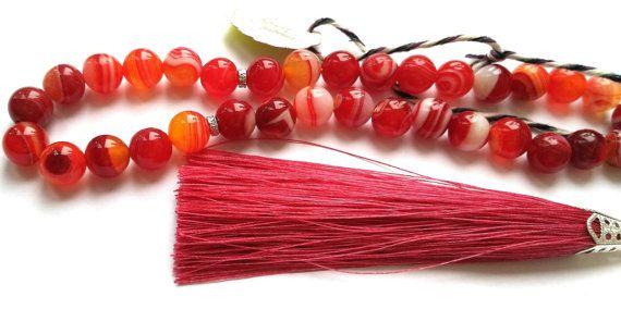 Rosary red от FamilyBijou на Etsy