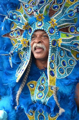Mardi Gras Indian on Super Sunday 2012 in New Orleans. (Photo from flickr, courtesy of Offbeat Magazine.)