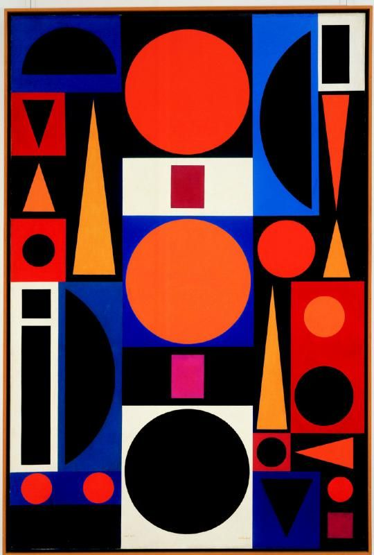 Auguste Herbin - abstract painting, approx 1950s