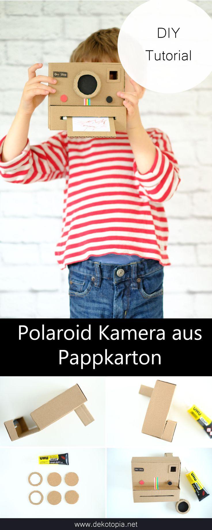 Bastel eine coole retro Polaroid Kamera aus Pappkarton – für weniger als 1 Euro… – Deutsche DIY Blogger – Selbstgemachtes fürs Zuhause