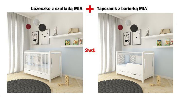 Genialne łóżeczko + tapczanik 2w1 MIA - zapraszamy mamaania.com.pl