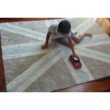 Teppich Washable Baumwolle Flagge England grau 140x200 von Lorena Canals
