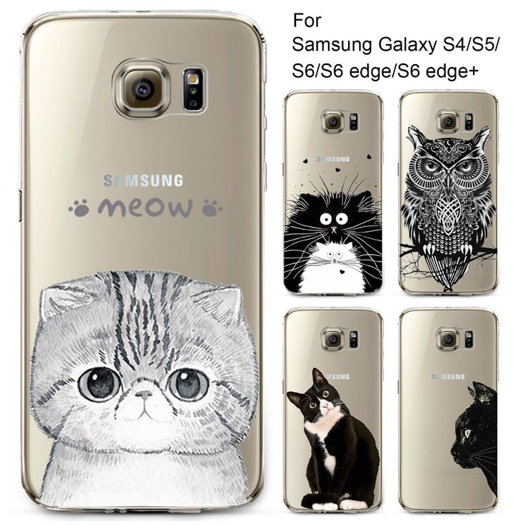 Phone Case for Samsung Galaxy S4 S5 S6 S6Edge S6Edge+ Soft TPU Silicon Transparent Thin Cover Cute Cat Owl Animals Skin Shell //     Price: US $0.59 & Free Shipping //     Casesaholic.com //     #cellphonecase   #lifestyle