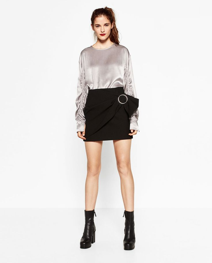 Image 1 of SATEEN BLOUSE from Zara