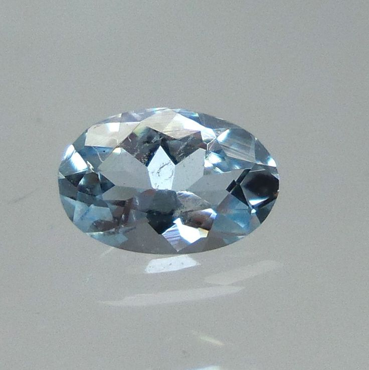 0.3 CTS AAA NATURAL LUSTROUS OVAL AQUAMARINE CUT STONE 6X4 MM GOOD PRICE AQA61 #UnitedGemstones