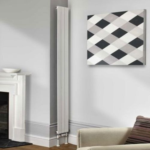 Radiator Company Water Lily Double Radiator, 2010mm High x 155mm Wide, White