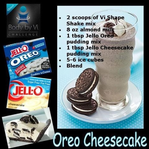 The Body By VI Shake  www.kravetheshake.com: Body By Vi, Oreo Cheesecake, Protein Shakes, 90 Day Challenges, Vi Shakes Recipes, Visalus Shakes Recipes, Weightloss, Weights Loss, Cheesecake Recipes