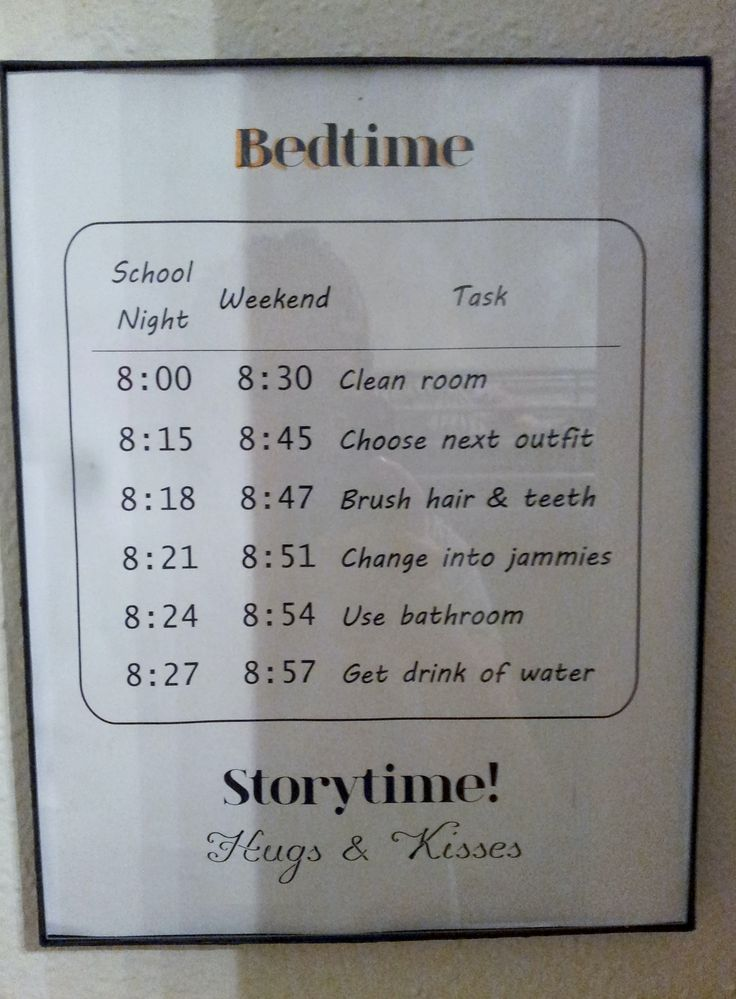 Diy bedtime schedule for my 9 and 10 year old printed and for Room decor for 11 year old boy