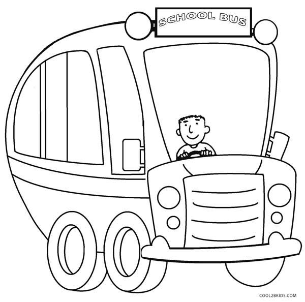 Simple Bus Coloring Pages 81579 | LOADTVE