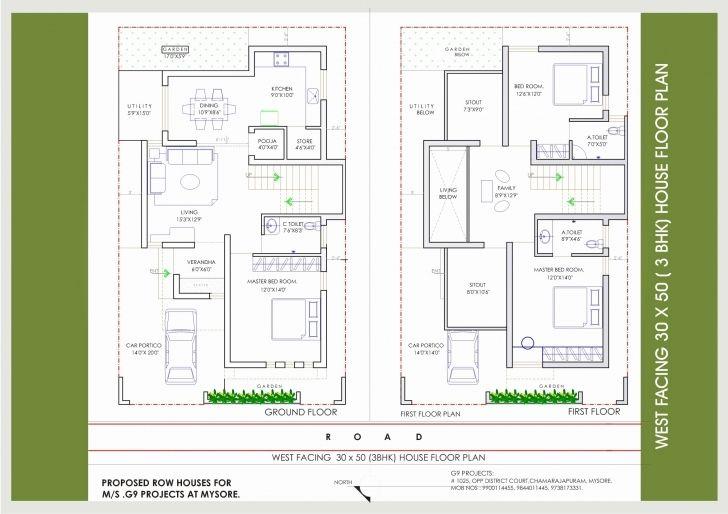 Stunning 30 50 West Facing House Plans 20 30 North Duplex X Feet India 20 X 50 House Plans West Facing Image West Facing House 30x50 House Plans Vastu House