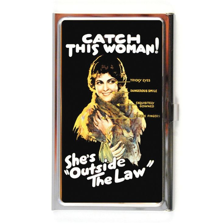 """The Quirky. """"Outside The Law"""" Business Card Case"""