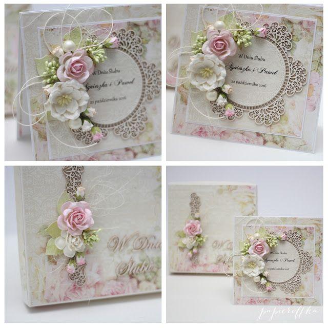 papieroffka scrapbooking pudełko kartka na ślub