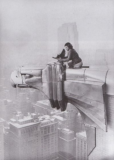 Margaret Bourke-White taking photos atop the Empire State Building, 1934.