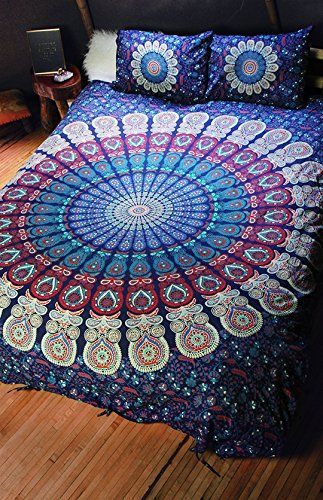 NANDNANDINI- a perfect christmas gift Indian Mandala Duvet Cover, Queen size Blanket, Quilt Cover, Indian Bedspread, Bohemian Bedding, Double Bedspread Comforter Cotton Duvet Cover //Price: $24.76 & FREE Shipping //     #hashtag3
