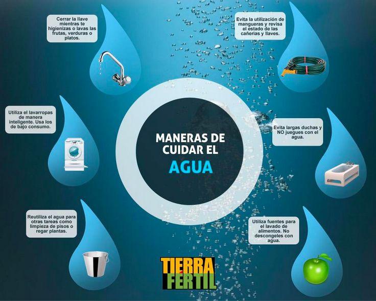 6 maneras de cuidar el Agua http://tierrafertil.com.mx/6-maneras-de-cuidar-el-agua/