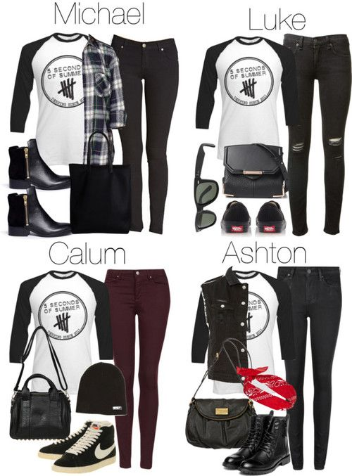 c96a0e45ccb2 How to style 5SOS merchandise. I personally like Ashton s outfit ...