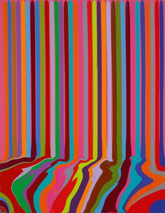 Ian Davenport Puddle Painting: Magenta