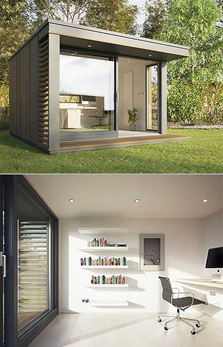 Backyard Pod Offices. Great for homeworking!