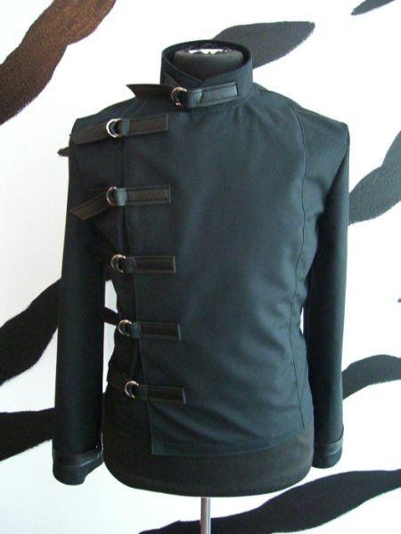Herren Schnalle Jacke Supernal Kleidung Goth gothic Fetisch Clubwear Cyber industrial Menswear Sci-Fi-Steampunk Punk alternative