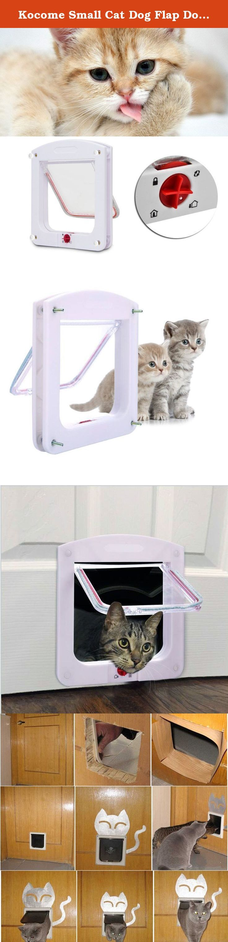 Kocome Small Cat Dog Flap Doors 4-Way Locking For Pets Entry Exit Controllable White. 100% brand new and high quality Material: Plastic Color: White (shown as the pictures) SIZE: (shown as the picture) Door frame:(H*W*T) 24.4*20.3*3cm / 9.61*7.99*1.18inch Door flap: (H*W) 15*15.7cm / 5.91*6.18inch 4-way locking pet door: Adjustable pet gate for entrance only, exit only, 2 ways, or locked position Perfect for cats & small dogs: Door fits pets up to 15 Pounds or smaller. Makes coming…