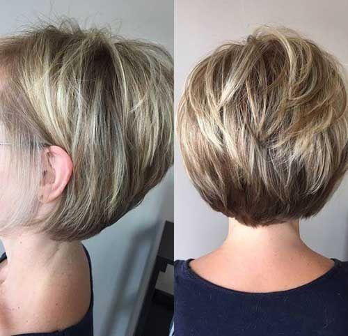 6.Short Bob Hair for Women Over 40