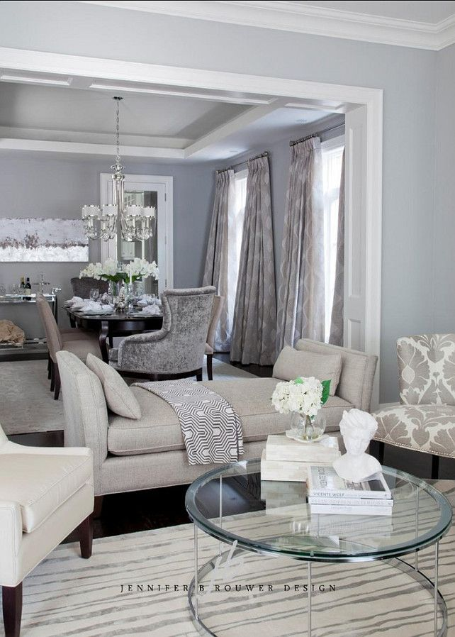 Formal #DiningRoom Formal Dining Room | beautiful room with accent trim and molding | furnishings and accessories complete the room | monochromatic palette is lovely